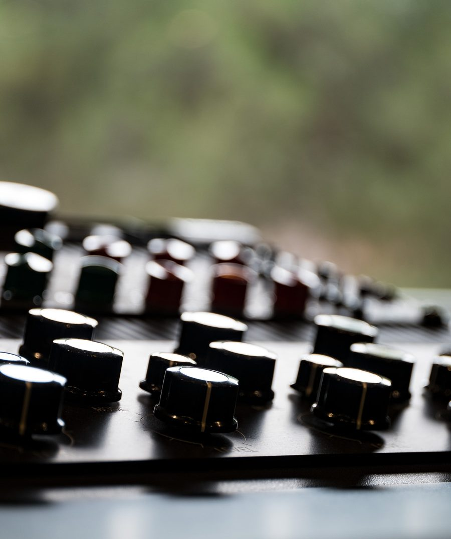 Mastering Studio Equipment Closeup